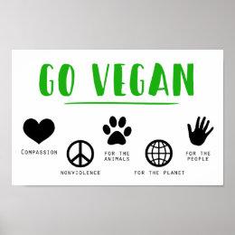 Vegetarian   Health and Fitness   Veganism   Vegan Poster