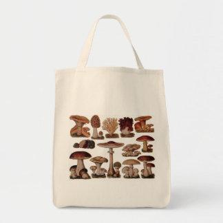 Vegetarian hipster steampunk vintage mushroom tote bag