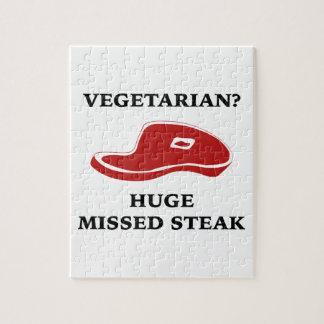 Vegetarian? Huge Missed Steak Jigsaw Puzzle