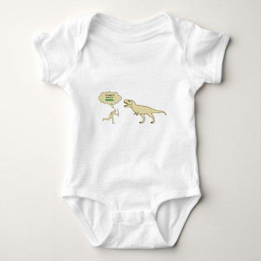 Vegetarian humour baby bodysuit