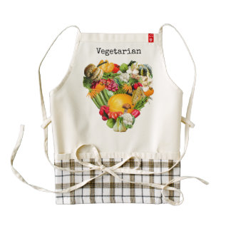 Vegetarian - I Love All Vegetables Zazzle HEART Apron