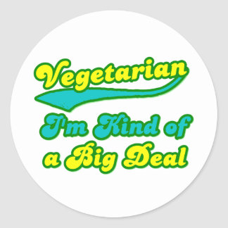 Vegetarian I'm Kind of a Big Deal Sticker