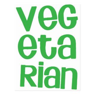 VEGETARIAN in green Postcard