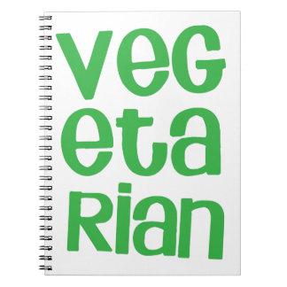 VEGETARIAN in green Spiral Notebook