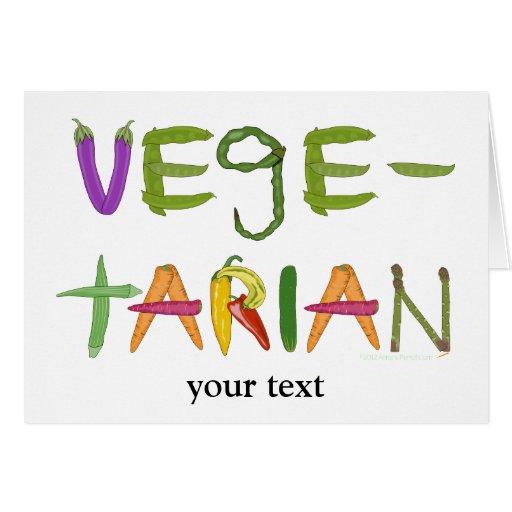 Vegetarian in Vegetables Whimsical Greeting Card