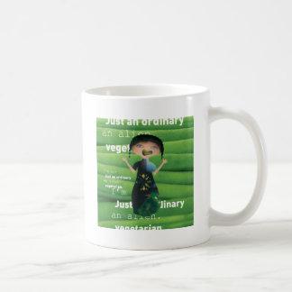 Vegetarian is no alien! classic white coffee mug