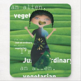 Vegetarian is no alien! mousepad