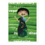 Vegetarian is no alien! postcard