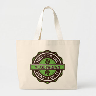 Vegetarian Just For the Health of It Canvas Bag