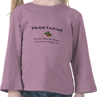Vegetarian kids' t-shirt
