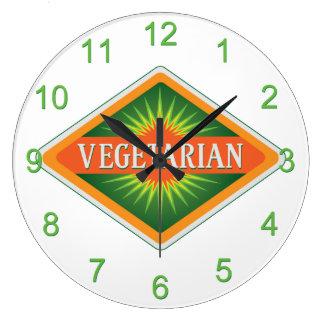 Vegetarian Large Clock