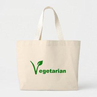 Vegetarian Large Tote Bag
