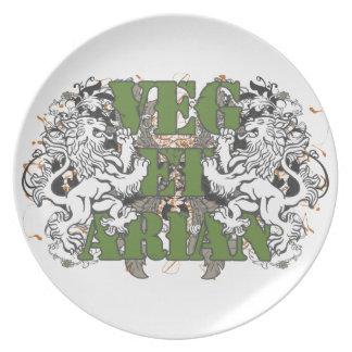 Vegetarian Lions Melamine Plate