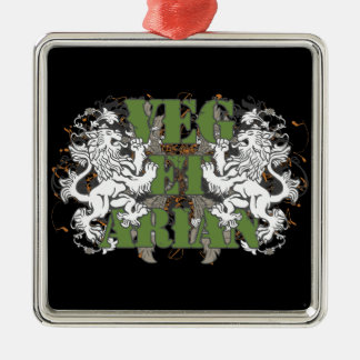 Vegetarian Lions Metal Ornament
