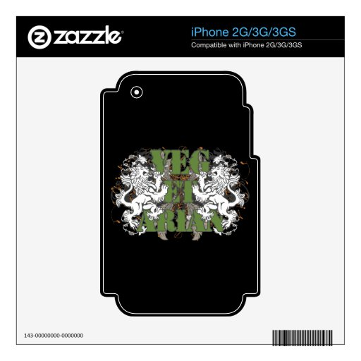 Vegetarian Lions Skin For iPhone 3GS