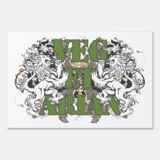 Vegetarian Lions Sign