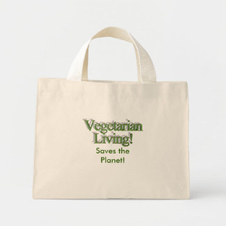 Vegetarian Living!, Saves the Planet! Tote Bags