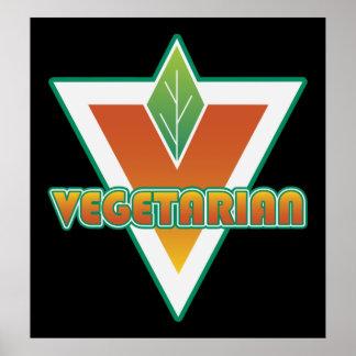 Vegetarian Logo Poster