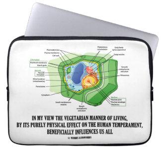 Vegetarian Manner Of Living Human Temperament Computer Sleeves