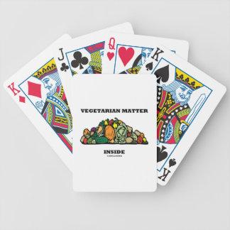 Vegetarian Matter Inside (Pile Of Vegetables) Card Decks