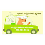 Vegetarian Meal Delivery Business Business Cards