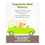 Vegetarian Meal Delivery Service Full Color Flyer
