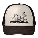 Vegetarian merchandise mesh hats