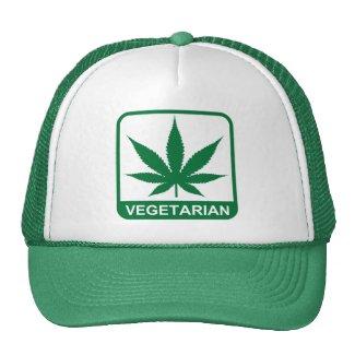 Vegetarian Marijuana Leaf Mesh Hat