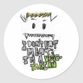 Vegetarian ~mon stickers