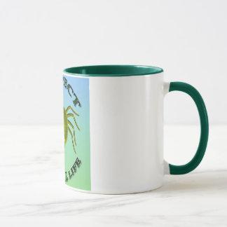 Vegetarian more sqider colorful background mug
