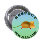 Vegetarian mouse colorful background pins