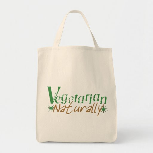 Vegetarian Naturally Tote Bag
