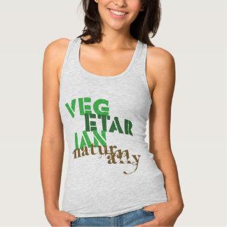 Vegetarian Naturally Womens Slim Fit Racerback Shirt