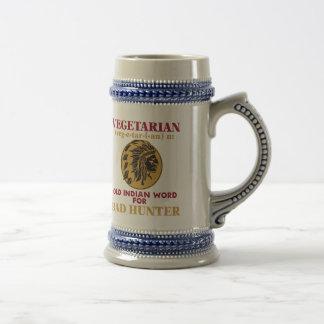 Vegetarian Old Indian Word for Bad Hunter Beer Stein