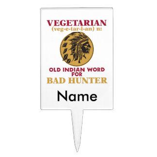 Vegetarian Old Indian Word for Bad Hunter Cake Topper