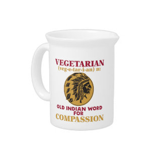 Vegetarian Old Indian Word Beverage Pitchers