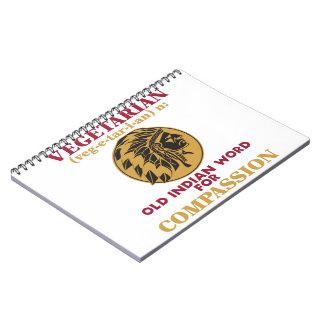 Vegetarian Old Indian Word Spiral Notebook