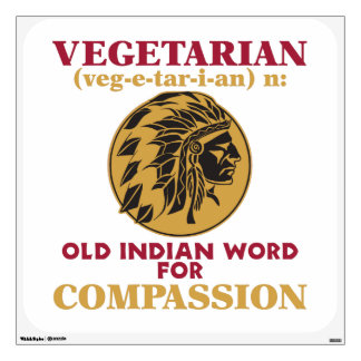 Vegetarian Old Indian Word Wall Decal