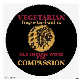 Vegetarian Old Indian Word Wall Skins