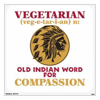 Vegetarian Old Indian Word Wall Skin