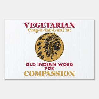 Vegetarian Old Indian Word Sign