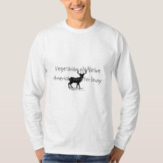 Vegetarian: old Native American wor... Tee Shirts