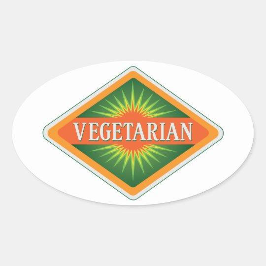 Vegetarian Oval Sticker