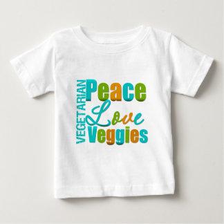 Vegetarian Peace Love Veggies Baby T-Shirt