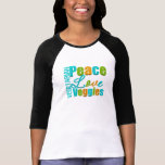 Vegetarian Peace Love Veggies Tee Shirts