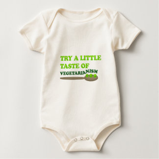 Vegetarian Peas Baby Bodysuit