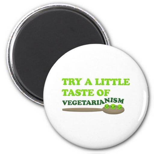 Vegetarian Peas Fridge Magnets