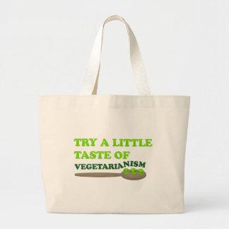 Vegetarian Peas Large Tote Bag