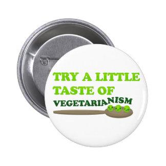 Vegetarian Peas Pinback Button