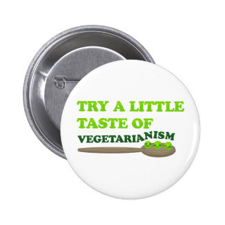 Vegetarian Peas Pinback Button